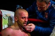 Galavečer bojových sportů, Iron Night Fight 3, proběhl 22. února v městské hale v Jablonci nad Nisou. Na snímku je Roman Hádek v kategorii K1 do 77 kilorgamů.