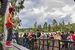 První ročník hudebního festivalu JBC Fest u přehrady v Jablonci nad Nisou proběhl loni v létě. Letošní ročník je naplánovaný na datum od 29. června do 1. července. Na snímku vystoupení kapely Skampida.