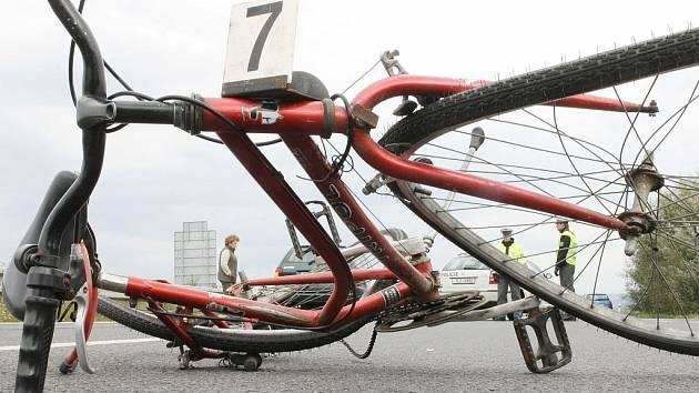 Nehoda cyklisty. Ilustrační snímek.