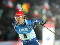 Michal Krčmář v závodě