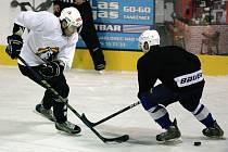 Namísto duelu Vlků Jablonec s běloruským Šachtarem Soligorsk si hráči zahráli mezi sebou.