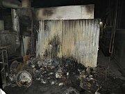 V Rýnovicích hořelo ve spalovně