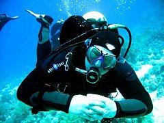 Jaroslav Kočárek ze Snakesubu tak, jak ho zná většina potápěčů. V sobotu jej viděli i tančit.