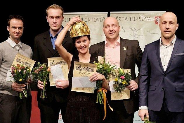 Nejlepšími sportovci Turnova za uplynulý rok se stali Michaela Omová, Jakub Oma, Josef Egrt, Jan Kazda a Petr Kazda
