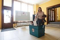 Volby do evropského parlamentu na radnici v Jablonci nad Nisou.