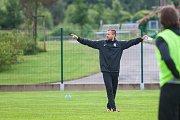 Trénink mužstva FK Jablonec pořádaný v rámci mediálního dne před zahájením sezony proběhl 25. července v Jablonci nad Nisou. Na snímku asistent trenéra, Jiří Vágner.