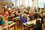 První školní den v Základní škole Liberecká v Jablonci.