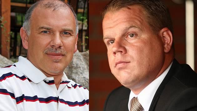 Bývalí krajští radní Zdeněk Bursa (vlevo) a Pavel Petráček