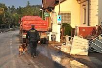 Psovodům z Černous však jejich služba ranním rozbřeskem nekončí. Mnozí se i po noční službě chopí pracovního nářadí a pomáhají v postižených obcích.