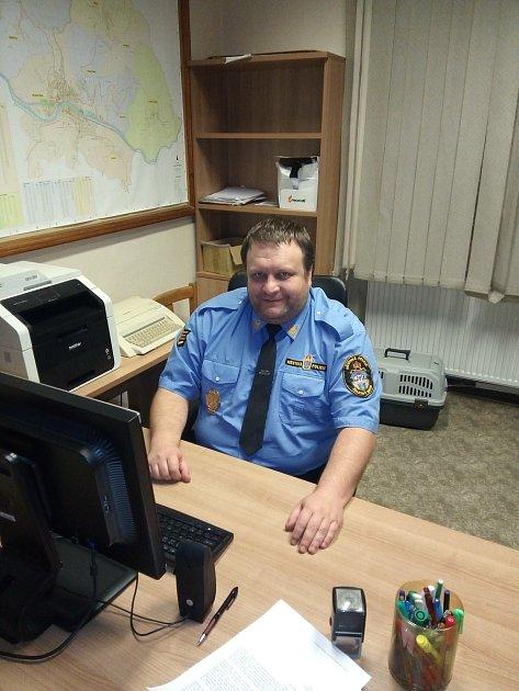 Velitel městské policie Železný Brod Pavel Hriník