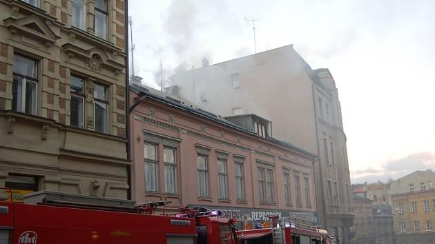 Požár v Podhorské ulici.