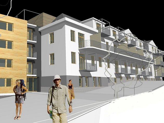 ZÁMĚR SPOLEČNOSTI. Studie přestavby a přístavby objektu bývalé dětské nemocnice v jablonecké Bezručově ulici.