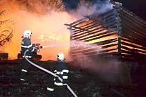 Požár v Nové Vsi nad Popelkou