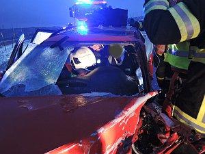 Dopravní nehoda kamionu u Hrádku nad Nisou