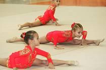 Oblastní přebor ve společných skladbách 4. kolo oblastní ligy v moderní gymnastice proběhlo v Městské sportovní hale.