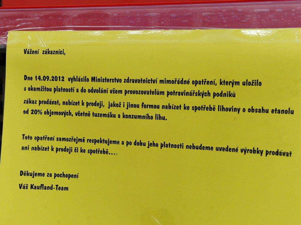 Prohibice i v obchodním řetězci Kaufland.