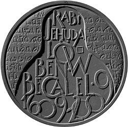 Autorem návrhu na pamětní stříbrnou minci u příležitosti 400. výročí úmrtí rabiho Jehudy Löwa ben Becalel, významného představitele židovské komunity, je Josef Šafařík.