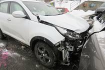 Nehoda na křižovatce v Jablonci nad Nisou.
