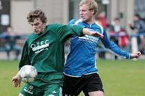 Zásada na domácím hřišti prohrála s týmem Plavů (v zeleném) výsledkem 0:2.