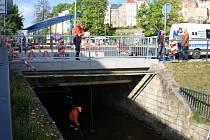 Oprava mostu u autobusového nádraží