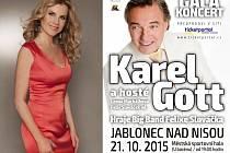 Karel Gott se chystá do Jablonce, 21. října koncertuje v Městské sportovní hale.