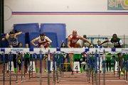 Atletický mítink Jablonecká hala 2018 proběhl 20. ledna v Jablonci nad Nisou. Na snímku zleva Jan Doležal, Bohdan Chornomaz, Petr Svoboda a Ahmad Al Moualed při disciplině 60 M překážek muži.