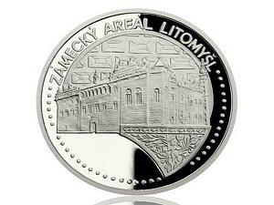 Platinová uncová mince UNESCO - Zámek a zámecký areál Litomyšl.