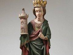 Svatá Barbora z Grabštejna ještě před letošním restaurováním