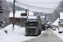 Hraniční přechod v Harrachově na Semilsku je uzavřený pro veškerou nákladní dopravu.