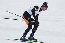 Vítěz sobotního skiatlonu ve Vesci. Jiří Magál z Dukly Liberec.