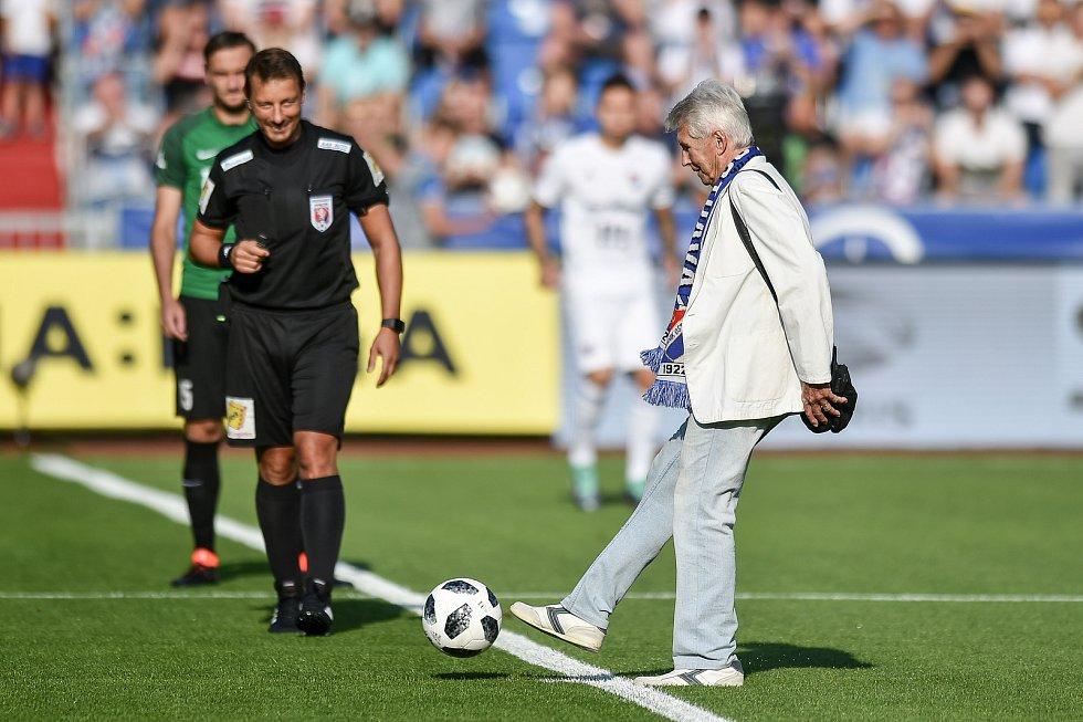 Utkání 1. kola první fotbalové ligy: Baník Ostrava - FK Jablonec, 23. července 2018 v Ostravě. (vpravo) Jindřich Pauk.