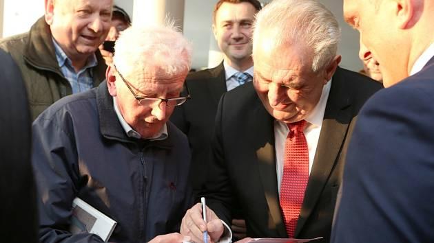Prezident Miloš Zeman v jablonecké nemocnici