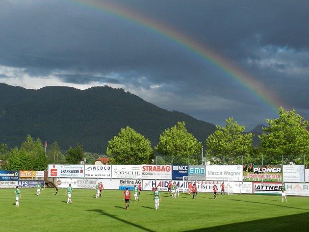 Momentka z nedělného utkání Jablonce proti Ingolstadtu.