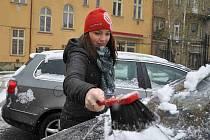 Jablonecko 26. dubna zaskočila sněhová nadílka.