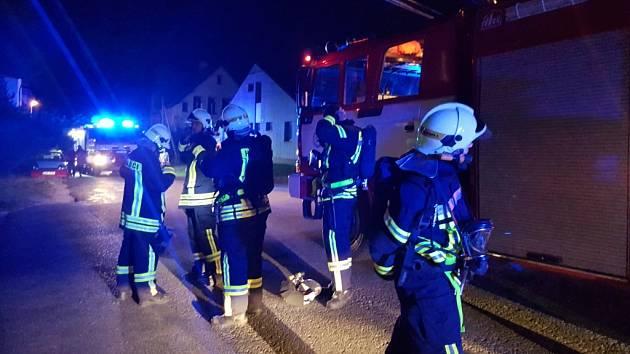 Požár ubytovny v jablonecké ulici Horská.