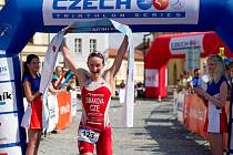 Triatlonistka Jitka Šimáková, která v minulosti hájila barvy Jablonce, vyhrála závod Českého poháru v Mělníku.