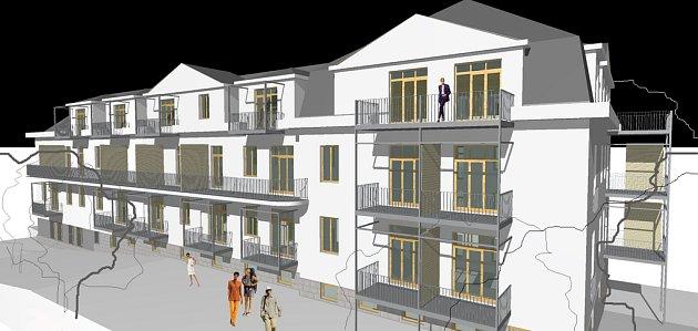 Studie Atelieru 4 na přestavbu a přístavbu bývalé dětské nemocnice v Jablonci