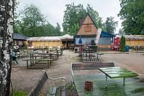 Areál Slunečních lázní v Jablonci nad Nisou na snímku z 23. května.