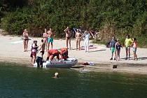 Ostrý zásah záchranářů na jablonecké přehradě