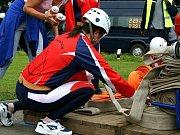 Sbor dobrovolných hasičů Frýdštejn na soutěži.