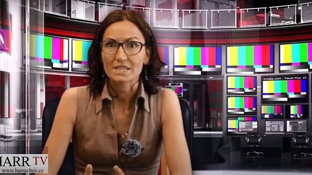 Hana Veselá, mluvčí harrachovské radnice, moderátorka Harr TV,