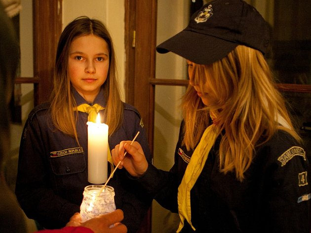 Betlémské světlo v Jablonci.
