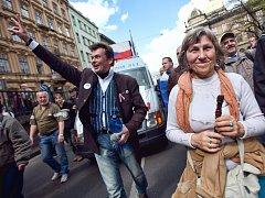 Demonstrace nespokojených občanů. Ilustrační foto
