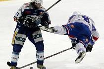 Mistrovské utkání II. ligy ledního hokeje mezi HC Vlci Jablonec a HC Děčín.