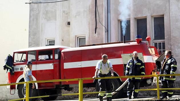 Požár v jiřetínské Detoe.