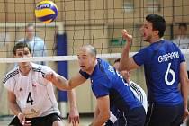V jablonecké Městské hale sehrála ve čtvrtek v podvečer mezinárodní utkání volejbalová reprezentace ČR a Slovinsko.