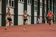 Atletický mítink Jablonecká hala 2018 proběhl 20. ledna v Jablonci nad Nisou. Na snímku zleva Tamiris de Liz, Barbora Procházková a Lucie Koudelová při disciplině 60 m ženy.