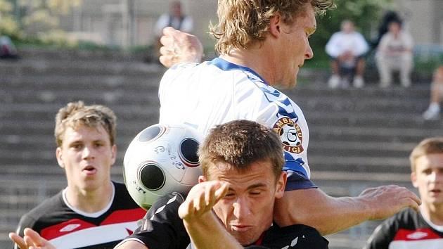 Mistrovské utkání ČFL mezi FC Slovan Liberec a.s. B a SK SLavia Praha.
