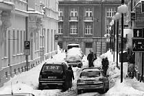 Sněhová kalamita v Jablonci.