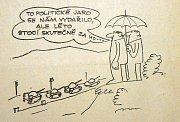 Vtipy ze srpna 1968 uveřejněné v tisku vydávaném na Jablonecku